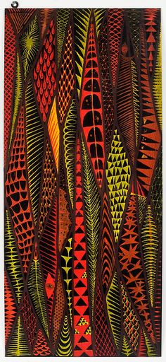 Stig Lindberg; Enameled Metal Wall Panel, 1950s. http://www.pinterest.com/chengyuanchieh/