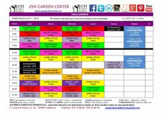 Nuevos horarios curso 2017 -18 sala Garden.