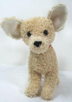 """Douglas Cuddle Toy Tan Chihuahua Puppy Dog Plush 6-1/2"""" Stuffed Toy Animal"""