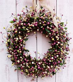 Diy Spring Wreath, Spring Front Door Wreaths, Diy Wreath, Wreath Ideas, Grapevine Wreath, Shabby Chic Kranz, Shabby Chic Wreath, Umbrella Wreath, Christmas Wreaths
