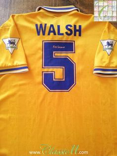 1994 95 Leicester City Away Premier League Football Shirt Walsh  5 (XL) f56819d75