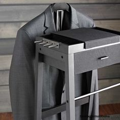 Portable Wardrobe Closet Valet Stand Men Suit Rack Clothes Clothing Hanger Coat  #PortableWardrobeCloset