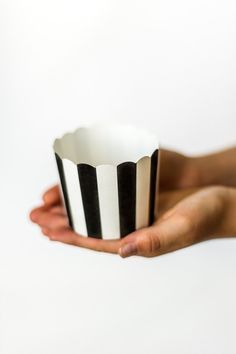 SWEET STRIPED Wedding Favor Cups  Baking Cups  by SixpencePress, $5.25