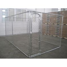 Let your dog enjoy the outdoors while keeping him safely contained in the Aleko Products DIY Chain Link Dog Kennel System . This durable metal kennel. Chain Link Dog Kennel, Metal Dog Kennel, Dog Boarding Kennels, Dog Kennels, Diy Dog Fence, Building A Dog Kennel, Outside Dogs, Dog Pen, Huge Dogs
