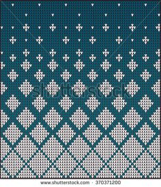 Fair Pattern sweater design on the wool knitted texture. Knitting Ornament