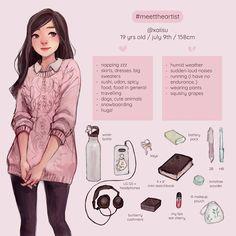 meet the artist! by xaiisu on DeviantArt Cute Art Styles, Cartoon Art Styles, Arte Sketchbook, Meet The Artist, Art Challenge, Cute Characters, Pretty Art, Character Design Inspiration, Aesthetic Art