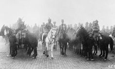 Field Marshal August von Mackensen inspecting Austro-Hungarian cavalry in Dobruja during the Romanian Campaign.