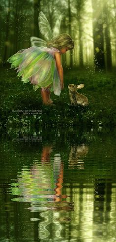 """Fairy and Bunny: Enchanted Whispers  ❤❦♪♫Thanks, Pinterest Pinners, for stopping by, viewing, re-pinning, & following my boards. Have a beautiful day! ^..^ and """"Feel free to share on Pinterest ♡♥♡♥ #comics #fairytales4kids❤❦♪♫!♥✿´¯`*•.¸¸✿♥✿´♥✿´¯`*•.¸¸✿♥✿´¯`*•.¸¸✿♥✿"""