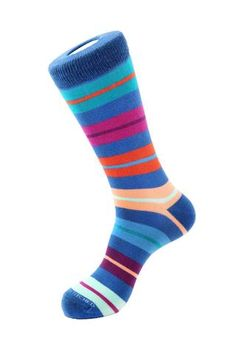 Design & Features: Combed cotton for a softer-than-average feel Ribbed cuff 2 Ply construction for extra durability Reinforced Toe and Heel Combed Cotto Blue Socks, Color Patterns, Stitch, Repeat, Collection, Fashion, Socks, Moda, Full Stop