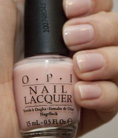"OPI ""Passion,"" my favorite daily-wear manicure polish. A nude with a touch of pink."