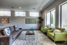 Contemporary and Stylish Seating Area