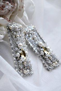 Long Statement Wedding Earrings Dangle Bridal от PurePearlBoutique