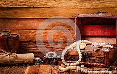 jewelery filled open treasure box - Google Search