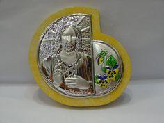 $29 HANDMADE 925 SIVER PLATED  ICON, info@bijuterie-online.ro Snow Globes, Plating, Icons, Silver, Handmade, Decor, Hand Made, Decoration, Symbols