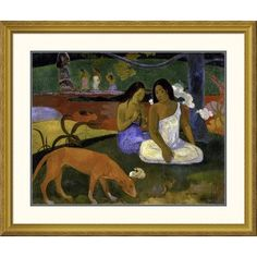 Global Gallery 'Arearea (Joyousness)' by Paul Gauguin Framed Painting Print Size: