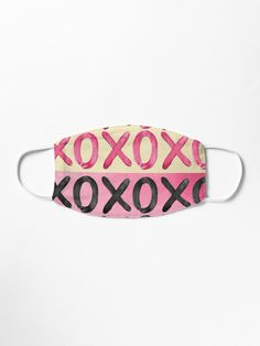 Shimmery pink, metallic black and gold XO's. Make A Donation, Mask Design, Cotton Tote Bags, Snug Fit, Chiffon Tops, Masks, Sunglasses Case, Finding Yourself, Metallic