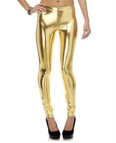 Gold pants- I just got these at Value village yesterday brand new! I need to find the perfect tops!