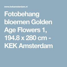 Fotobehang bloemen Golden Age Flowers 1, 194.8 x 280 cm - KEK Amsterdam