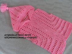 Kelebek Örgü Modeli ile Bebek Yeleği Nasıl Yapılır? (Baştan Sona Anlatım) - YouTube Easy Crochet Patterns, Baby Knitting Patterns, Baby Patterns, Crochet Baby Jacket, Crochet Cardigan, Crochet Videos, Baby Sweaters, Crochet For Kids, Crochet Clothes