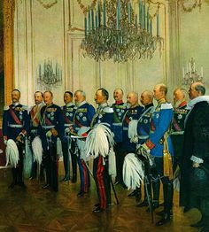 delegation of german princes and the Kaiser