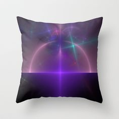 NeonSeries001 Throw Pillow by fracts - fractal art - $20.00