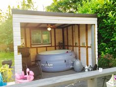 Need a hot tub shelter or hot tub gazebo to keep you dry? Check out our Top 10 Hot Tub Shelters which will inspire you and your garden setup! Hot Tub Gazebo, Hot Tub Garden, Hot Tub Backyard, Garden Bar, Gazebo On Deck, Wooden Gazebo, Small Garden Area Ideas, Lazy Spa, Hot Tub Room