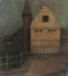 Nocturne, Bruges, 1899, Henri Le Sidaner. (1862 - 1939)