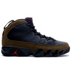 6c4ad9e5f40b Air Jordan IX (9) Retro 2002 Black Light Olive True Red - I have
