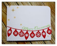 ...{Sylvias Stamping Place}... Christmas Card for CAS-ual Fridays