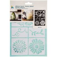 Flowers & Insects Adhesive Stencils