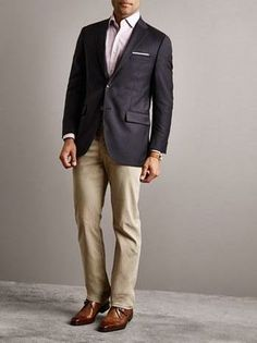 Fancy Valentine's Day date? Wear a classic fit wool blazer (this is as dressed-up as D ever gets, except for our wedding)