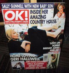 OK MAGAZINE ISSUE 259 APRIL 2001, SALLY GUNNELL, BRIDGET JONES, GERI HALLIWELL