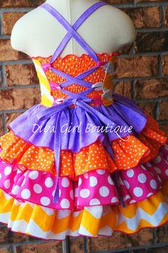 Boutique Girls Birthday Dress Dora Ruffle by divagirlboutique, $99.50