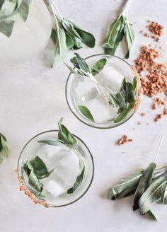 Honey and sage cocktails