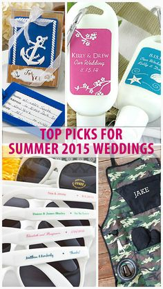 Our staff picks for the best products for your 2015 Summer wedding