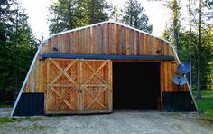 custom wood front garage | Talk about an awesome cabin in th… | Flickr