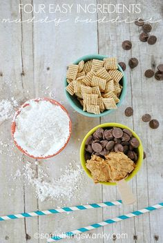 Muddy Buddies {aka Puppy Chow} - includes links to Carrot Cake, Nutella, Pink Lemonade, and Pumpkin varieties