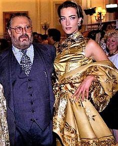 Tatjana Patitz & Gianfranco Ferre' back stage for Dior