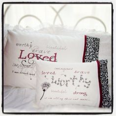 For survivors of sexual assault, domestic violence and other forms of abuse... The perfect pillow to snuggle into when she's feeling alone and misunderstood.  You can't always be there in the moment, but you can give her something to hold onto when she is feeling alone... a reminder of how much you care.