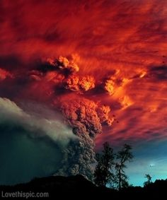 Puyehue Volcano Eruption photography colorful nature lava volcano erupt disaster