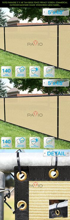 Patio Paradise 5' x 48' Tan Beige Fence Privacy Screen, Commercial Outdoor Backyard Shade Windscreen Mesh Fabric with brass Gromment 85% Blockage- 3 Years Warranty (Customized Sizes Available) #parts #fpv #15 #racing #plans #tech #pools #kit #technology #gadgets #products #drone #shopping #camera #48 #x