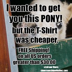 Wanted to get you a pony but the T Shirt was cheaper