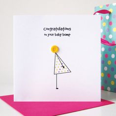 Congratulations On Your Baby Bump Card  Mum To Be  by mrsLcards
