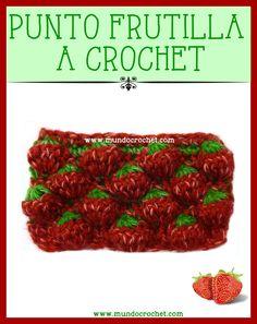 Punto frutilla crochet ganchillo-Strawberry stitch crochet