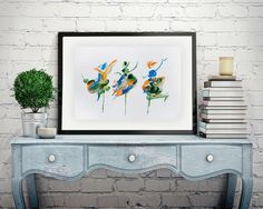 Women dancing, Dancers painting, Abstract Watercolor, ballerina print, Watercolor Painting, dance teacher gift, wall hanging, Home decor