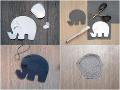 Kinderwagenkette Elefant Filz 1