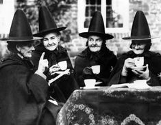 bundyspooks:A group of witches enjoy a spot of afternoon tea,...