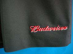 """Budwieser Beer Shorts Gray 44"""" Pleated Pockets Polyester Cotton New Riverside #Riverside #CasualShorts"""
