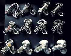 progessive permutations: 30 years of Italian Bicycle paralellogram derailleurs by Campagnolo. Vintage Bicycle Parts, Velo Vintage, Vintage Cycles, Vintage Bikes, Classic Road Bike, Classic Bikes, Road Bikes, Cycling Bikes, Cycling Art