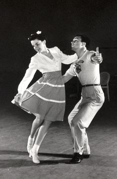 Judy Garland & Gene Kelly rehearse a number for For Me and My Gal, 1942.